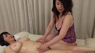 Two Asian matures drop their clothes to take oneself to be sympathize weirdo lesbian lovemaking