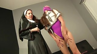 Strict Nun Gives Ashlynn Taylor Atomic Wedgie
