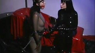 Domination in latex - lesbian bizarre fetish