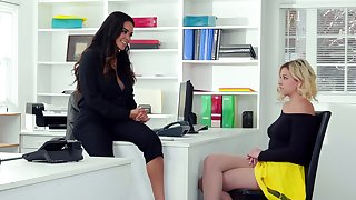 Office affair nearly exciting girls Dilly Marie and Sophia Lux